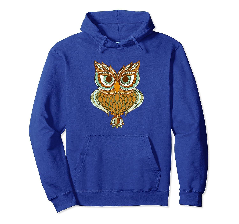 Artsy Owl Brocade Art Pullover Hoodie Owl Lovers Gift-mt