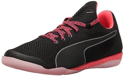 6a57e5e61 PUMA Men's 365 Evoknit Ignite CT Soccer Shoe, Black White/Bright Plasma, 9.5