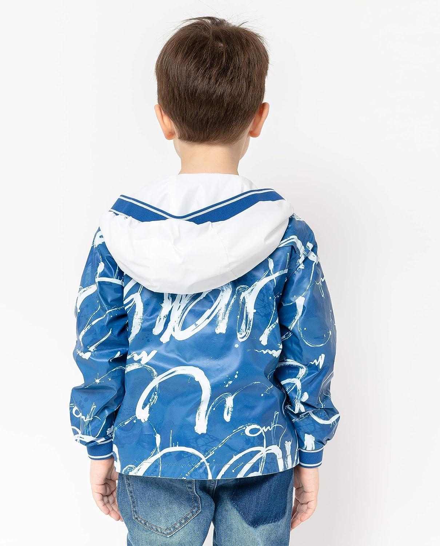 GULLIVER Jungen Jacke /Übergangsjacke Kinder Herbst Jacke Regenjacke Silber Wasserdicht mit Kapuze 98-128 cm