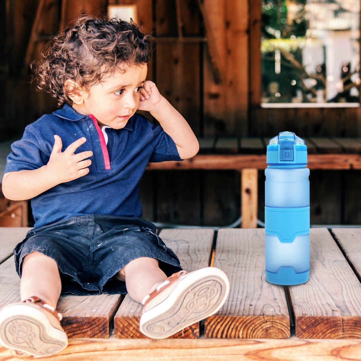 Botella de Agua,CAMTOA 500 ML Botella Agua,Nuevo Dise/ño/&Reutilizable Botella Deporte,Material Libre de BPA/&Leak-Proof Lid,Perfecto para Usar en Carreras,Gimnasia,Yoga,Camping,Bicicleta,Al Aire Libre.