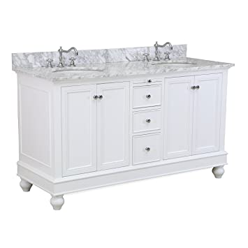 bella 60inch double bathroom vanity includes white cabinet