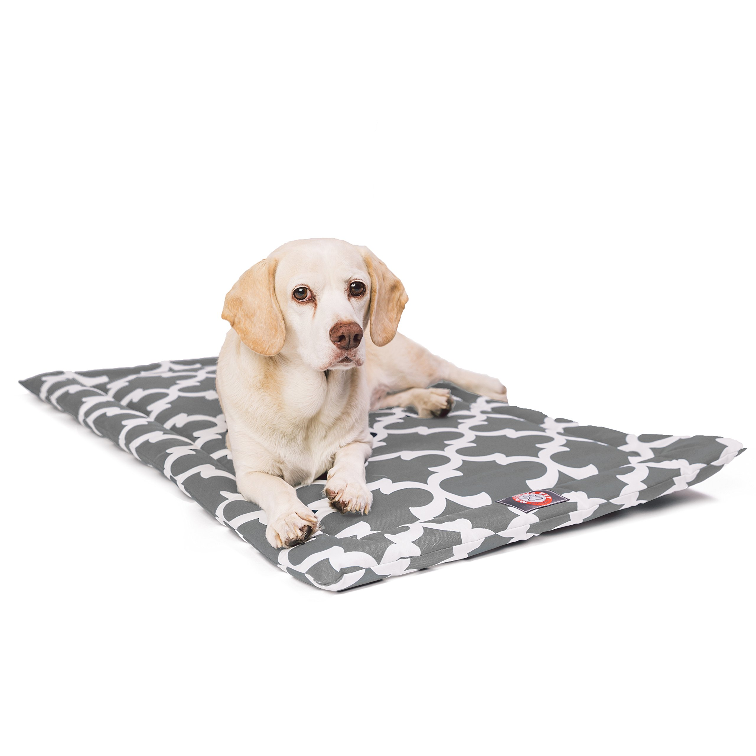 36''  Trellis Gray Crate Dog Bed Mat By Majestic Pet Products
