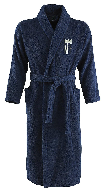 Monogrammliebe Bademantel aus 100% Baumwolle • • • Zwei aufgesetzte Seitentaschen • Passender Gürtel B071DNBXY9 Bademntel 18a26e