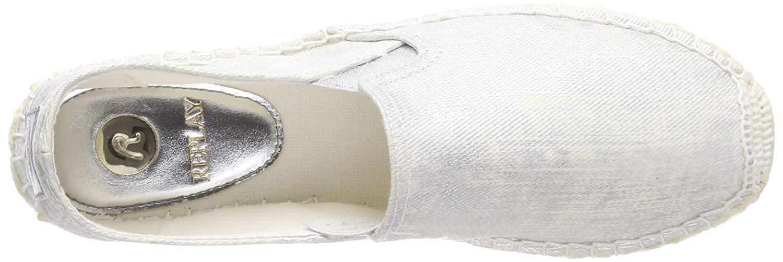 Replay Damen Espadrilles Elinor Espadrilles Damen Silber (Silver) 57d892