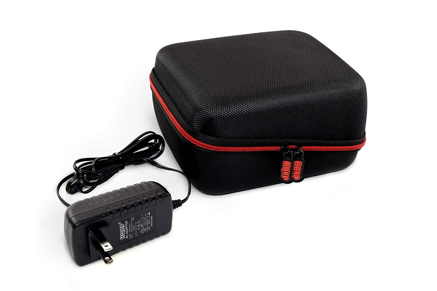 HQRP Hard Case and AC Adapter Compatible with Vive Precision Automatic Upper Arm Blood Pressure Monitor