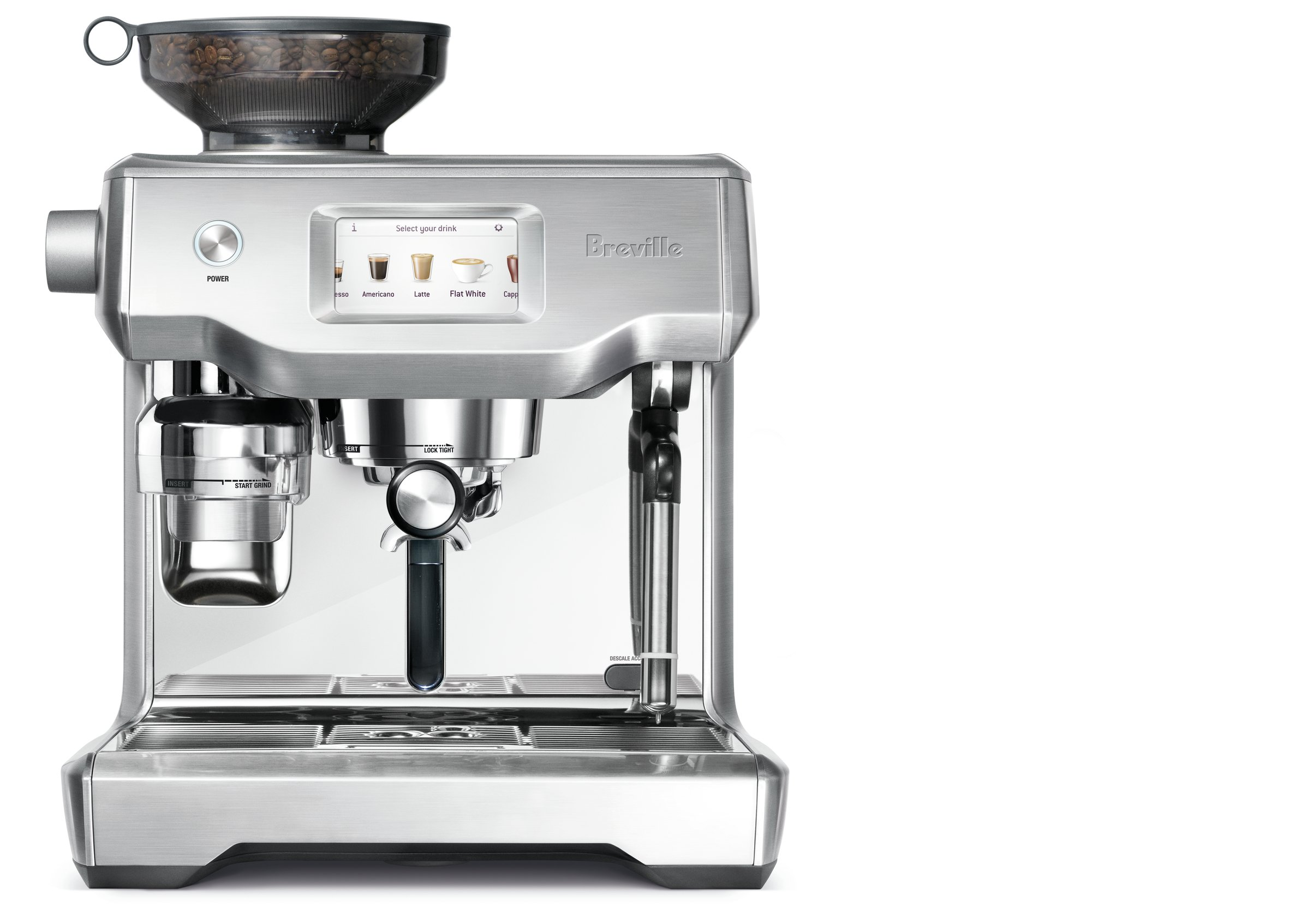 Breville BES990BSSUSC Fully Automatic Espresso Machine, Oracle Touch by Breville