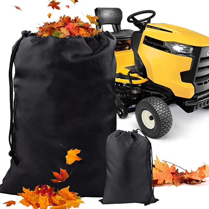 Deyard Leaf Bag for Lawn Tractor, Durable 54 cu. ft. 120-inch Opening Garden Lawn Mower Leaf Bags for Fast Garden Leaf Cleaning, Universal Fit Leaf Bag for Riding Lawn Mower