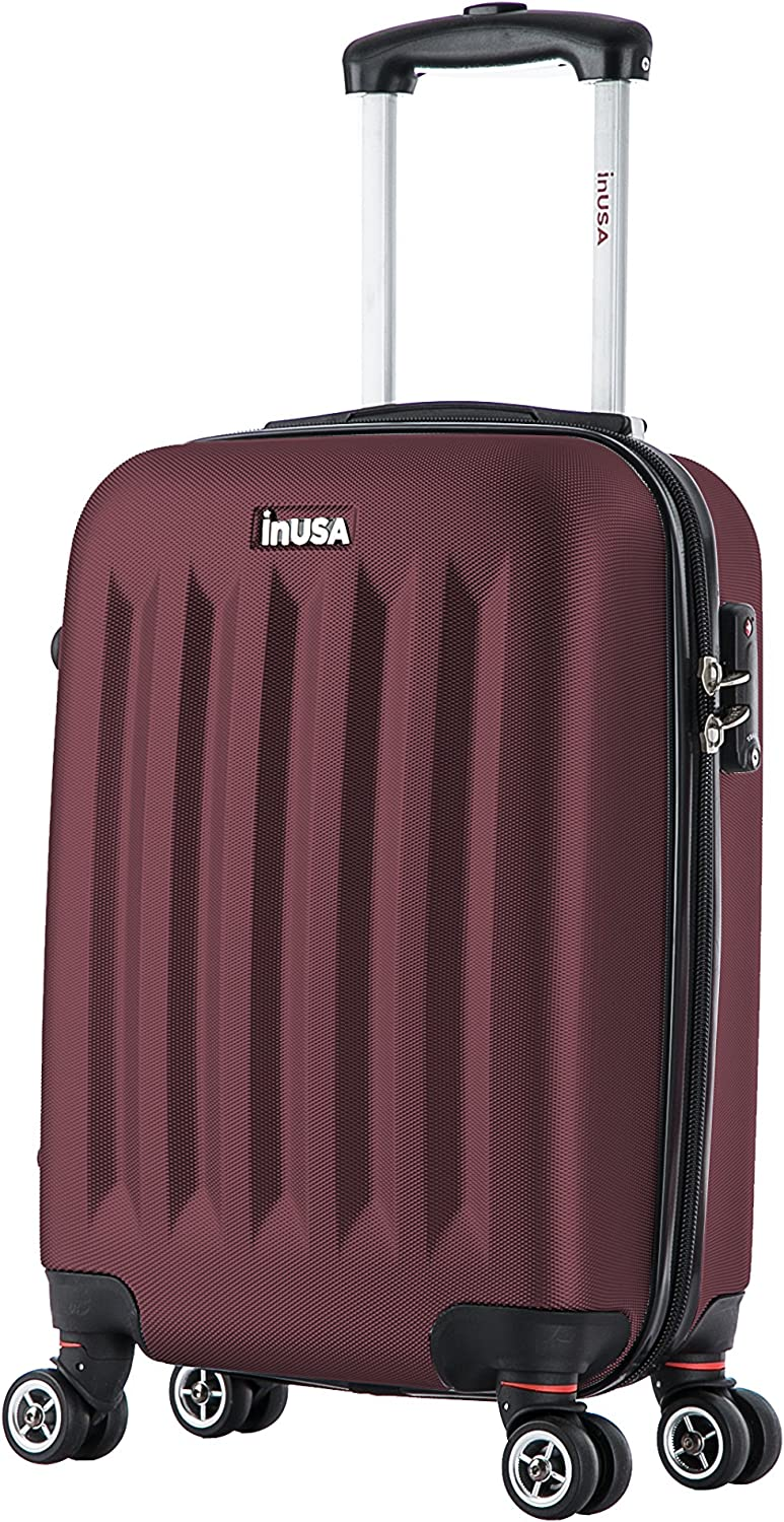 InUSA Carry-On Luggage 19 inch Wine Collection Philadelphia Lightweight Hardside Spinner