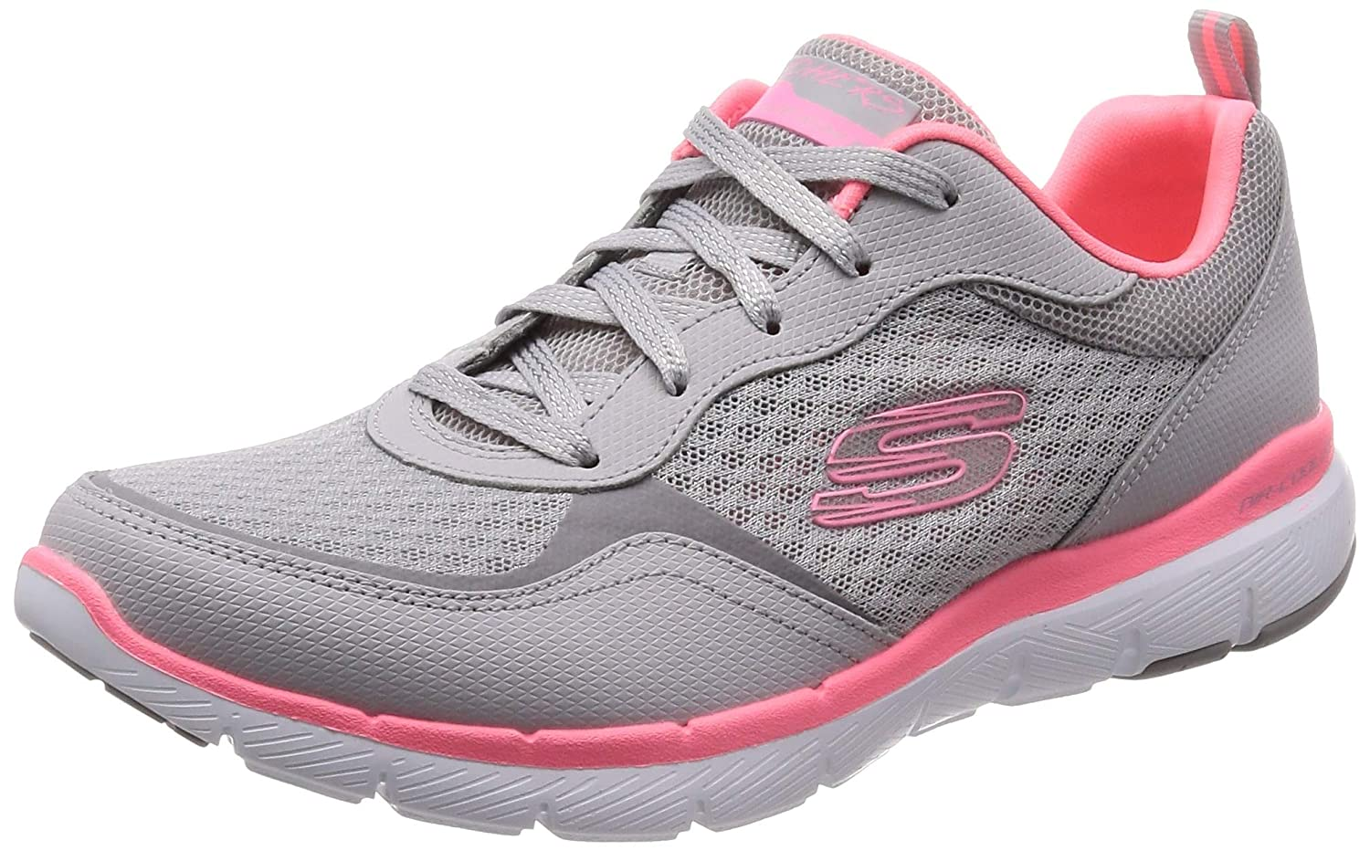 Skechers Damen Flex Appeal 3.0 go Forward Sneaker, Grau, 38