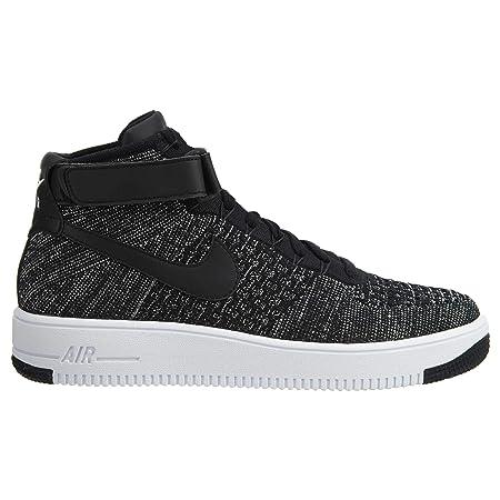 Nike Mens Ultra Flyknit Mid - Zapatos de baloncesto para hombre, Negro (Black/Black/White), 41 EU: Amazon.es: Deportes y aire libre