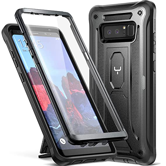 online store 2cc47 f3d52 YOUMAKER Kickstand Case for Galaxy Note 8, Full Body with Built-in Screen  Protector Heavy Duty Protection Shockproof Rugged Cover for Samsung Galaxy  ...