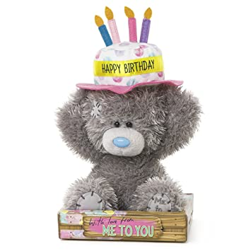 Me To You Sg01 W4080 6 Hoch Tatty Teddy Happy Birthday Kuchen Mutze