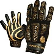 POWERHANDZ Weighted Anti-Grip Basketball Gloves for Strength and Resistance Training - Improve Dexterity and Arm Strength