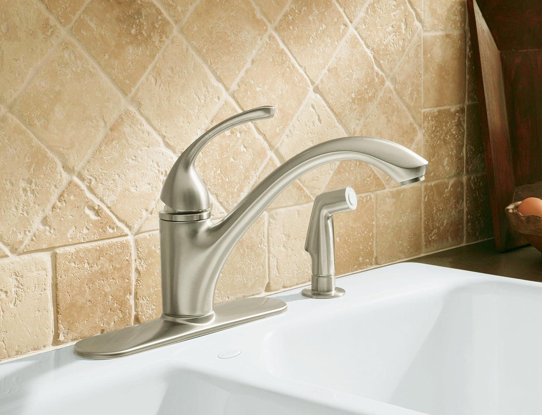 KOHLER K-10412-G Forte Single Control Kitchen Sink Faucet, Brushed ...