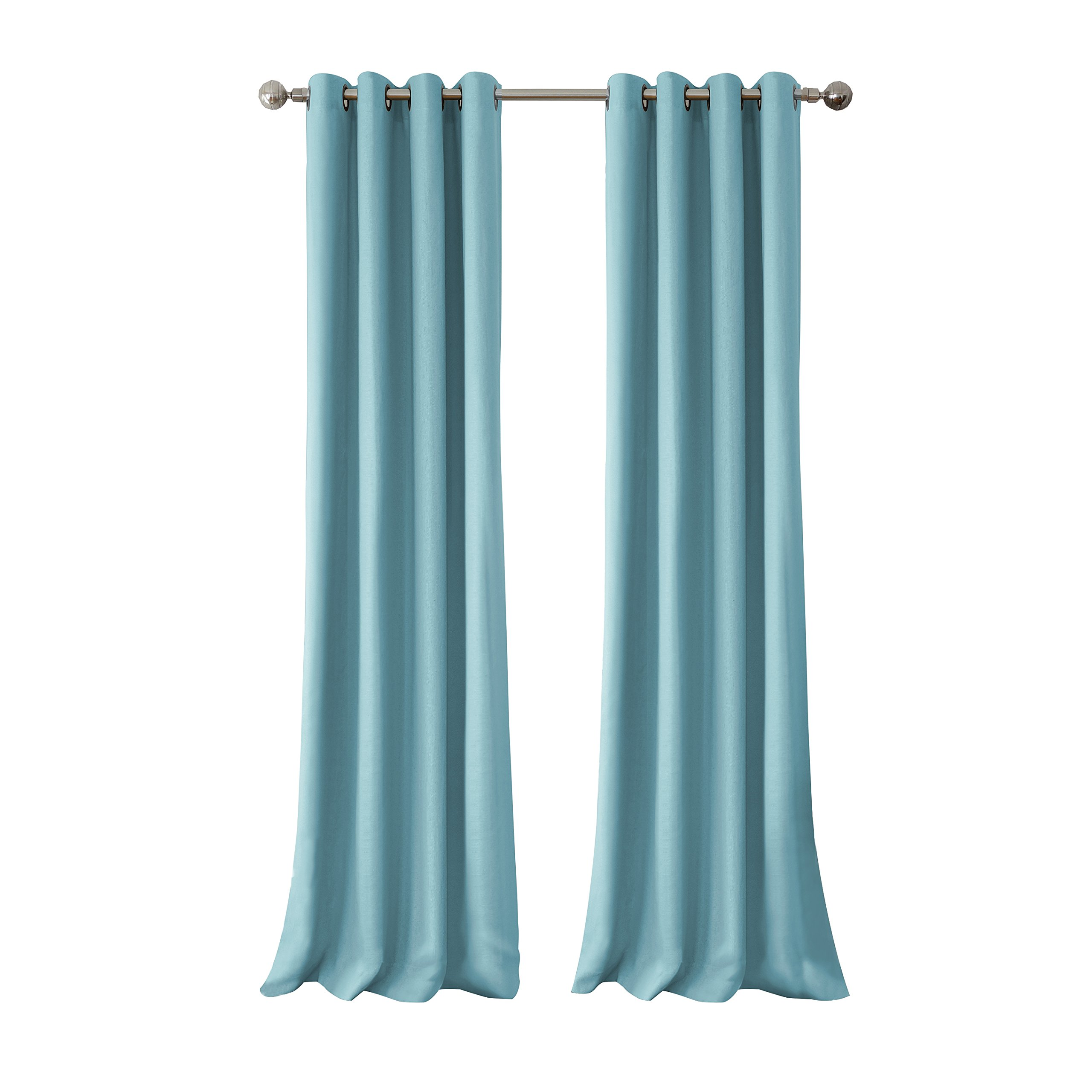 Elrene Home Fashions Connor Indoor/Outdoor Solid Grommet Panel Window Curtain 52'' x 108'' (1), Turquoise by Elrene (Image #3)