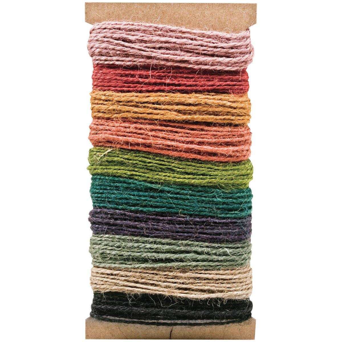 Tim Holtz Idea-ology Jute String, 10-Color, 3-Yard Each, 30-Yard Total, TH93139 Advantus Corp.