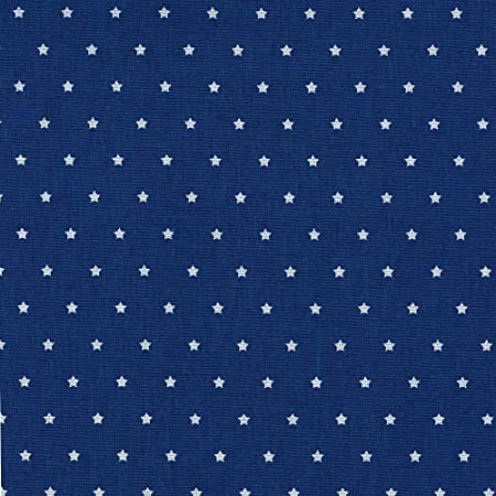 Tela de algodón estampada - Las pequeñas estrellas - tela de estrellas - estrellas blancas sobre un fondo azul marino - 100% algodón suave | ancho: 160 cm (por metro lineal)*: Amazon.es: Hogar