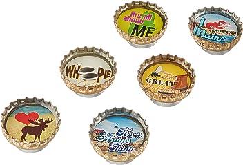 Kate Grenier Designs Maine Bottle Cap Magnets
