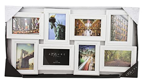 Amazon.com - 8 Photo Collage Picture Frame (White) Four 4x6 Embossed ...