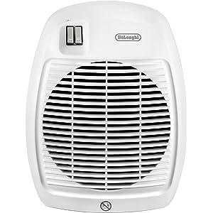 De'Longhi Termoventilatore HVA 0220, Solamente per Riscaldamento, 1000/2000 W, Bianco