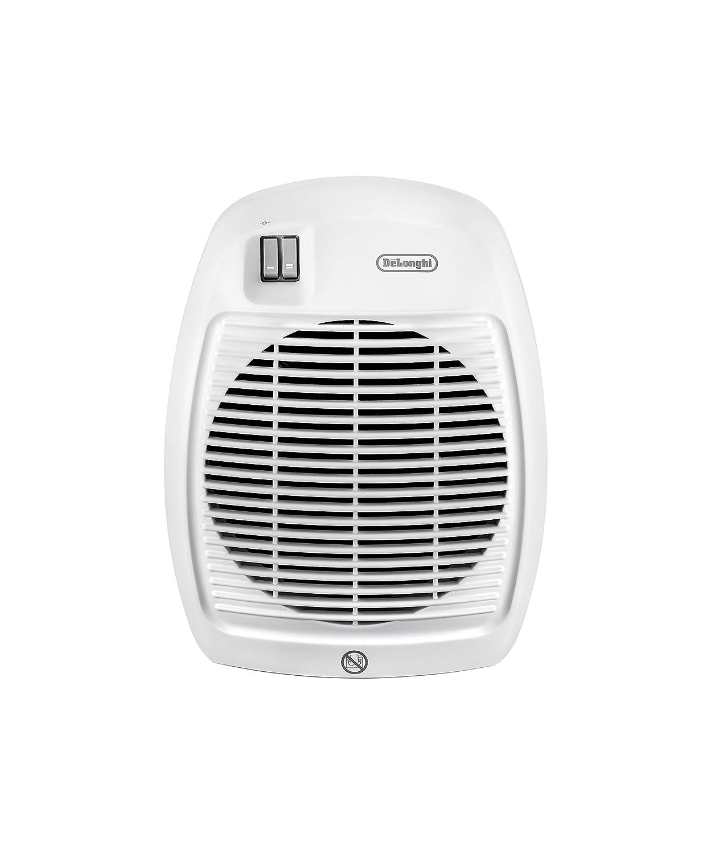 De'Longhi Termoventilatore HVA 0220, Solamente per Riscaldamento, 1000/2000 W, Per stanze fino a 60 m�, Bianco