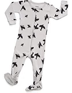 Leveret Baby Boys Girls Footed Pajamas Sleeper 100% Organic Cotton Kids    Toddler Pjs Sleepwear 13d7aabf4