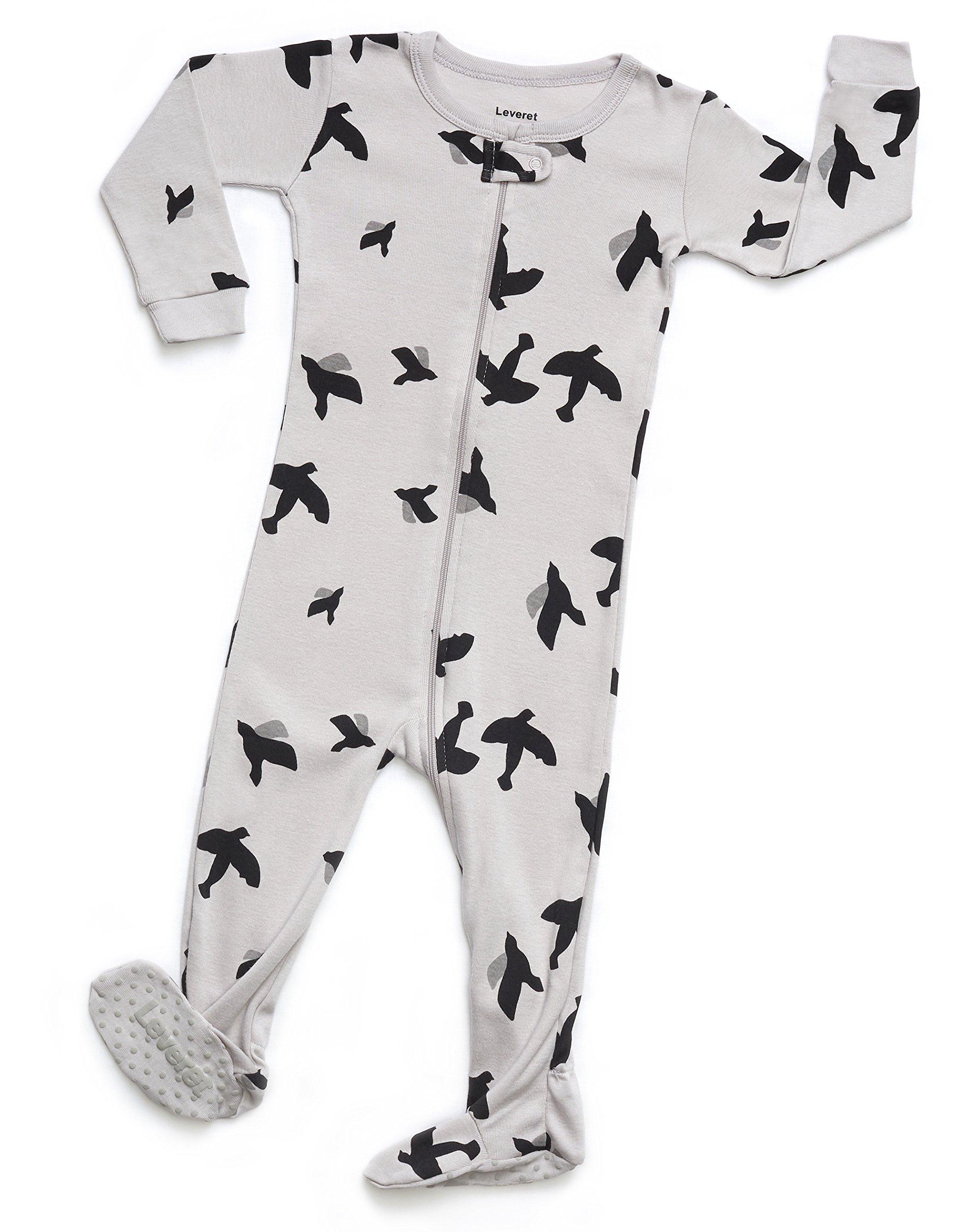 Leveret Organic Cotton Bird Footed Pajama Sleeper
