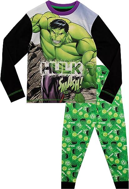 Kids Official Marvel Avengers /'The Hulk/' Boys Pyjamas Pyjama PJ Set 4-10Y