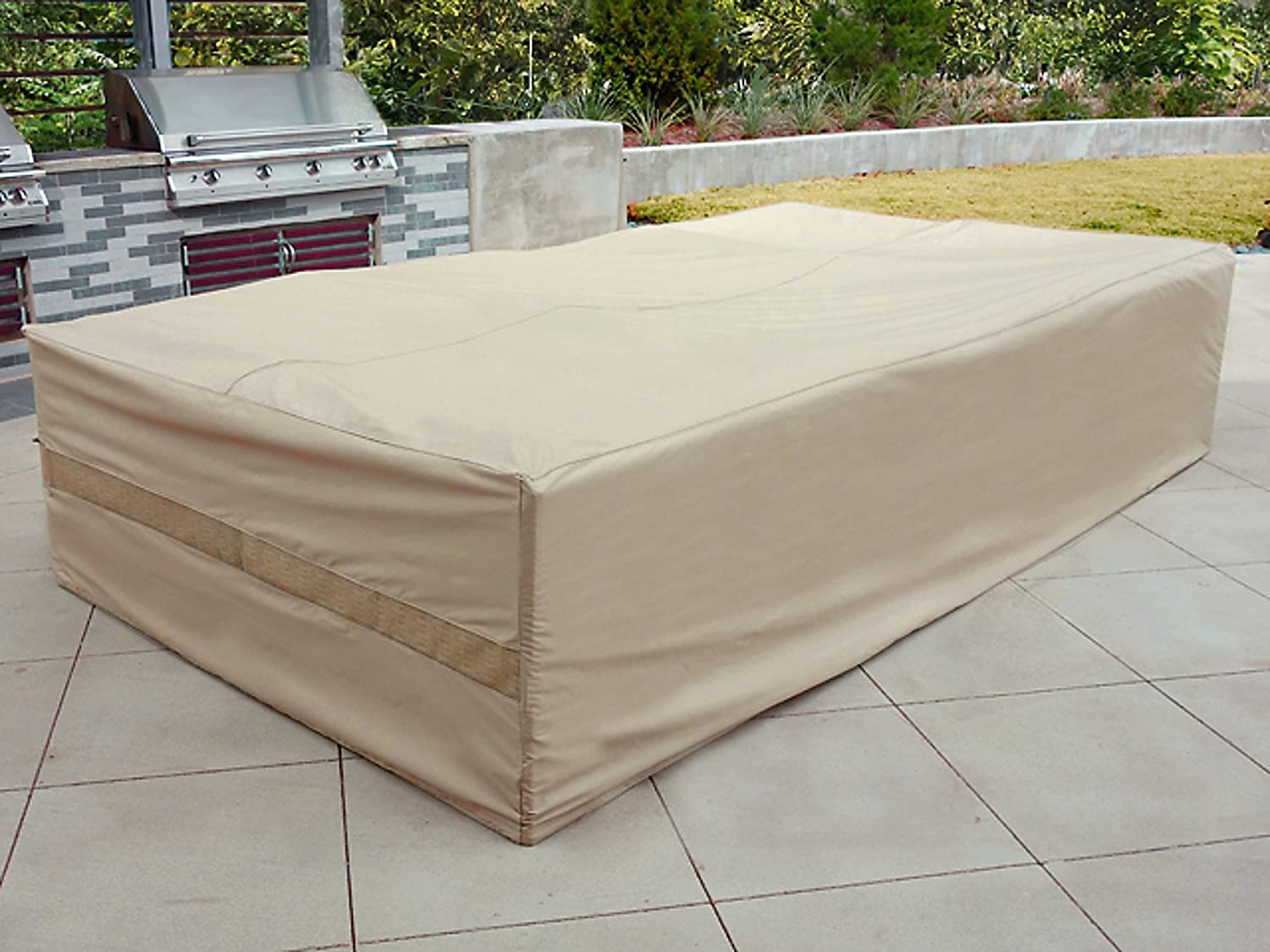 covermates patio furniture covers. amazoncom covermates sectional set cover 138w x 68d 30h elite collection 3 yr warranty year around protection khaki patio furniture covermates covers