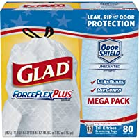 Deals on 80-Ct Glad ForceFlexPlus Tall Kitchen Drawstring Bags 13 Gallon