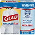 80-Count Glad ForceFlexPlus Tall Kitchen Drawstring Trash Bags