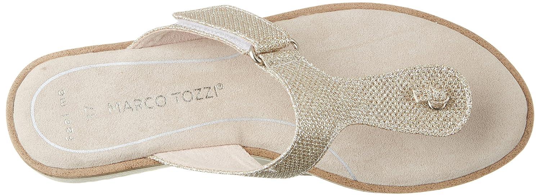 Marco Tozzi 27101, Sandalias para Mujer, Plateado (Platinum Metal 989), 42 EU