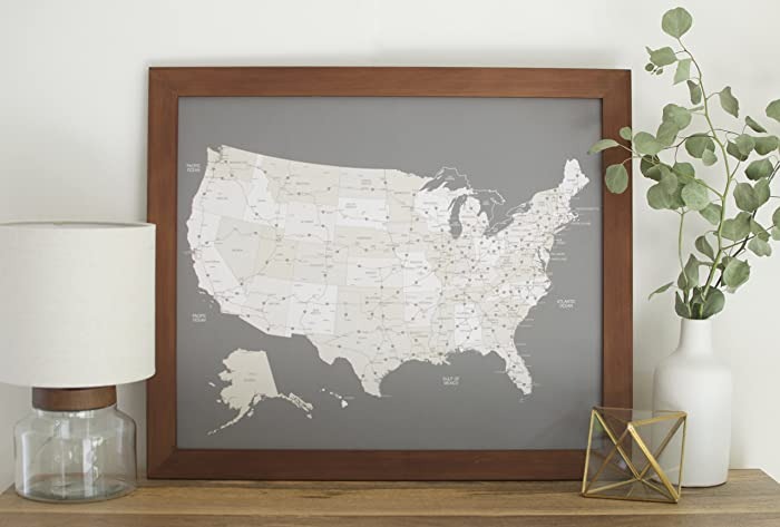 RandMcNally Mseries Map Framed X Walls Pinterest Map Framed - Large framed us map