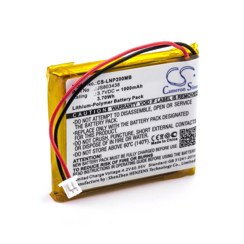 vhbw Li-Polymer Akku 1000mAh (3.7V) fü r Babyphone Babyfone Babytalker wie Luvion JS803438