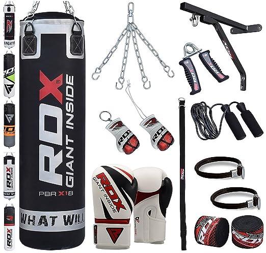 7 opinioni per RDX Boxe 17PC 4FT 5FT Sacchi Pugilato Guanti MMA Pieno Sacco StaffaTerra Base