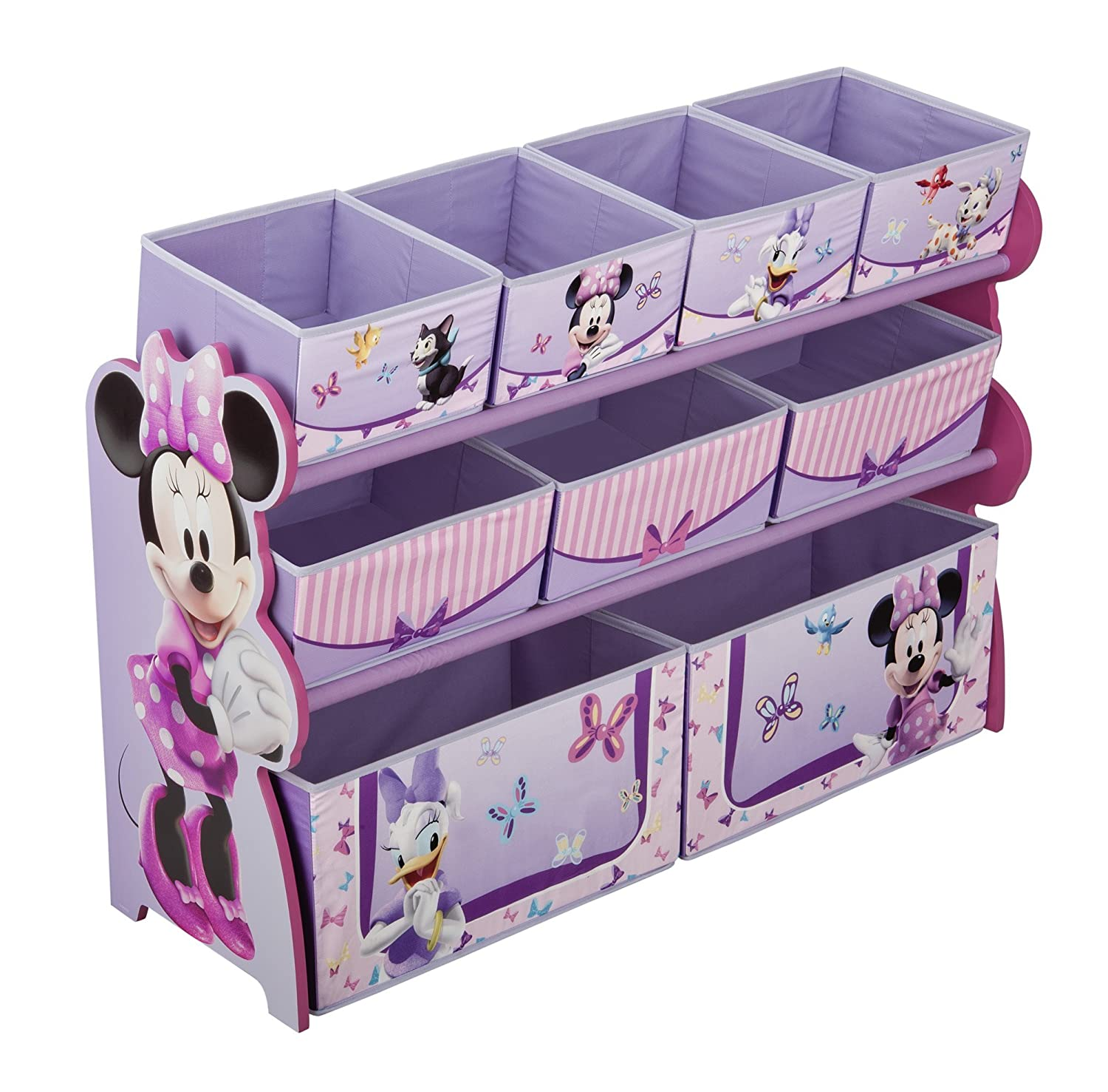 Delta Children Deluxe 9 Bin Toy Organizer, Disney Minnie Mouse TB84835MM