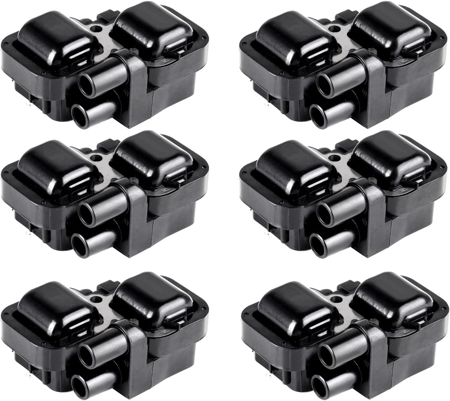 OCPTY Set of 6 Ignition Coils Compatible with OE UF667 Fit for BMW 2003-2017