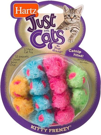 Amazon Com Hartz Just For Cats Kitty Frenzy Catnip Mice Toys