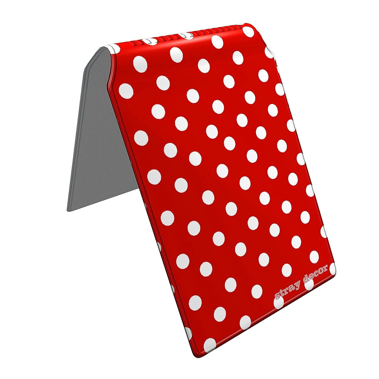 Stray Decor (Polka Dots (Red and White)) Buspass Fahrkartenhalter im Brieftaschenformat, IsarCard, fahrCard, RMV Clevercard, Kolibricard oder Karteninhaber auf Reisen SD-0125