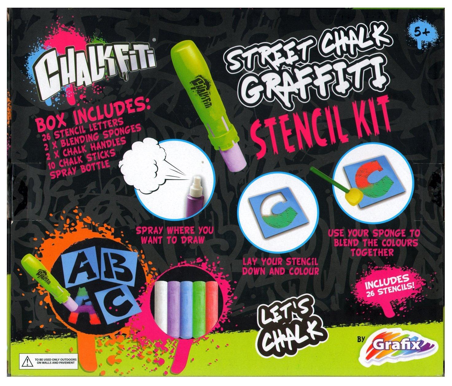 RMS Grafix Chalkfiti Street Chalk Graffiti Stencil Kit