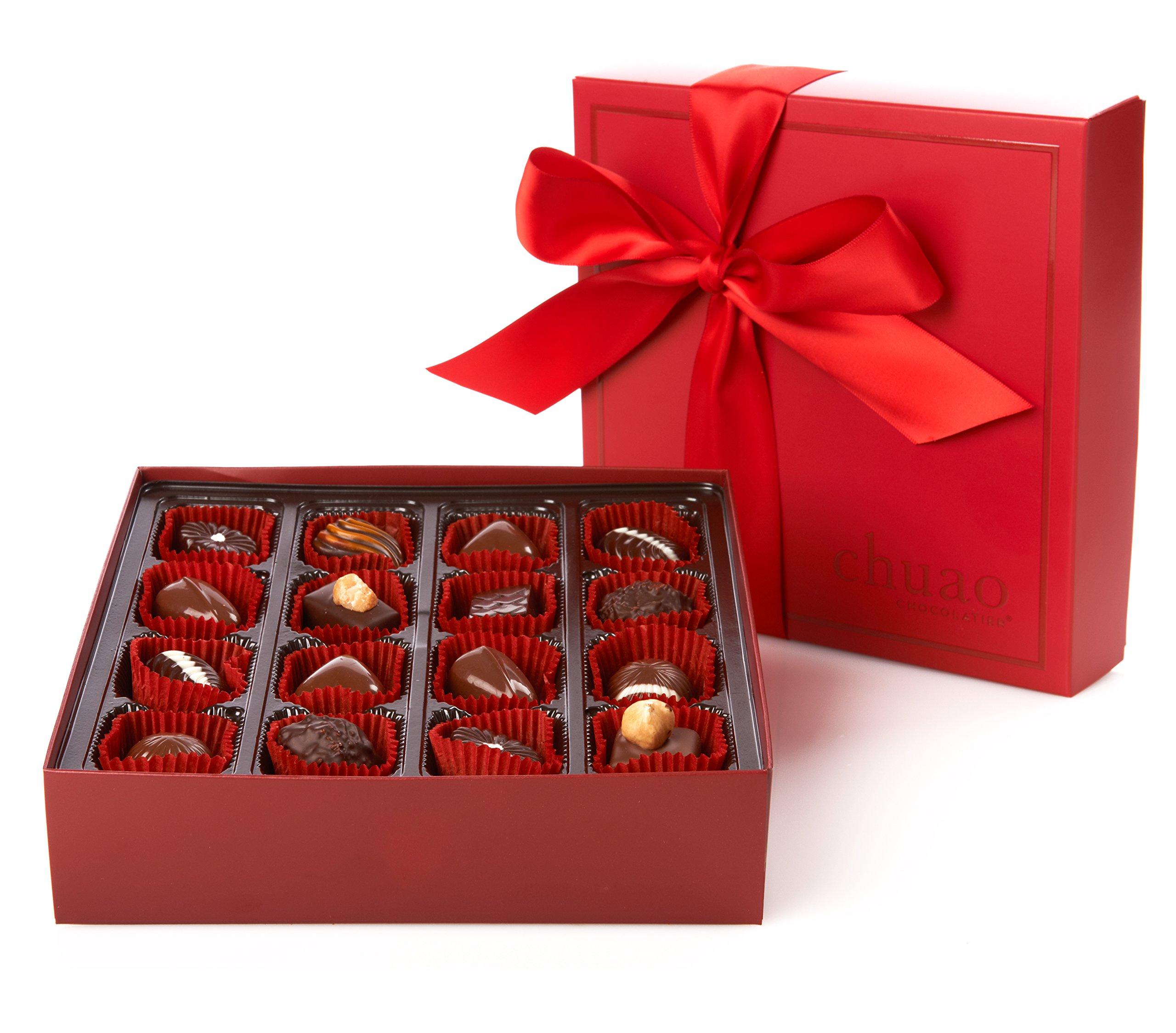 Bonbon Collection - Chuao Chocolatier Chef's Favorites Bonbon Collection Gift Set - Best-Selling Chocolate - Gourmet Artisan Milk & Dark Chocolate - Free of Artificial Flavors (16 Piece)