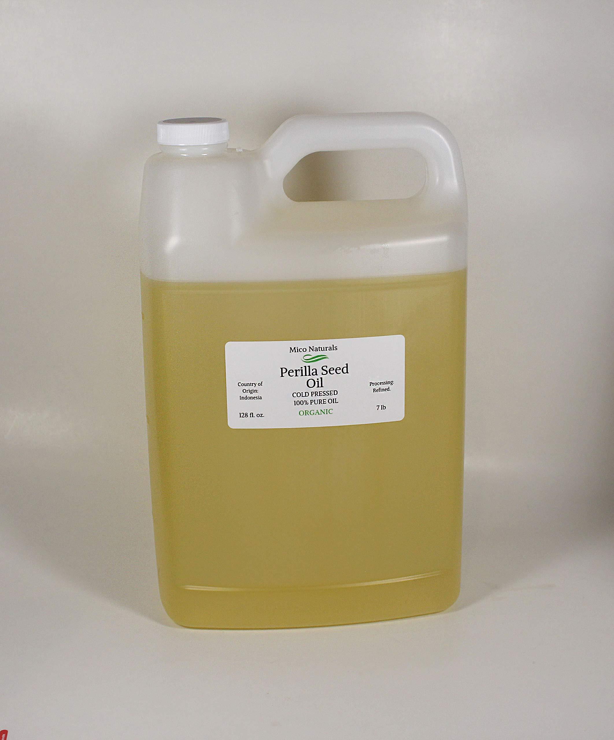 Perilla Seed Oil Organic Cold Pressed Pure 7Lb/Gallon by Mico Naturals