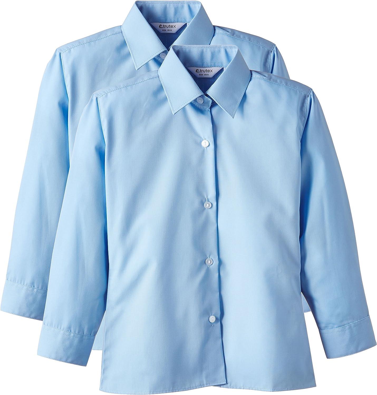 Trutex Limited Girls 2PK Non Iron Long Sleeve Blouse