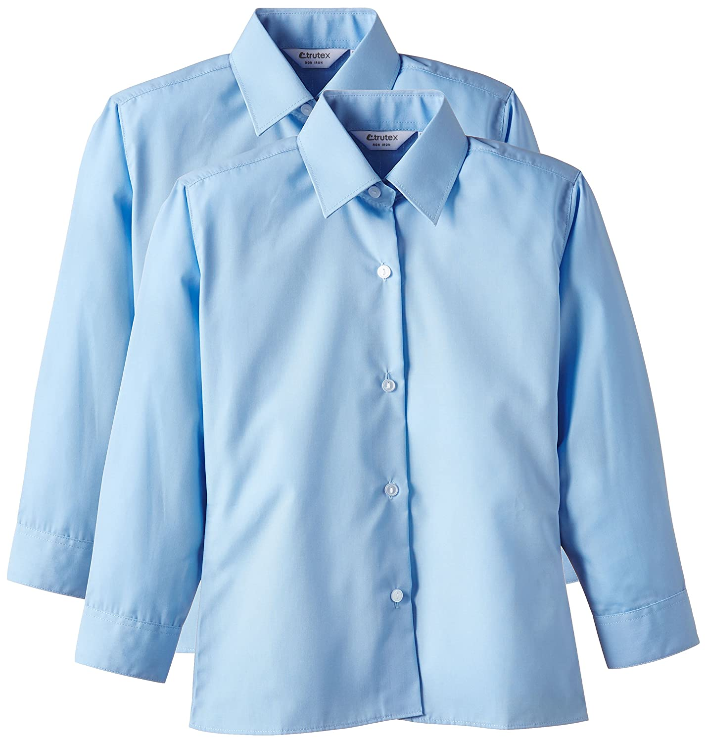 Trutex Limited Boys Non Iron Long Sleeve Shirt Pack Of 2