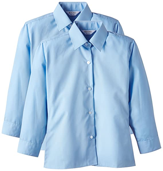 2394d34ee168b Trutex 2pk LS Non Iron Blouse - Blusa Niñas  Amazon.es  Ropa y accesorios