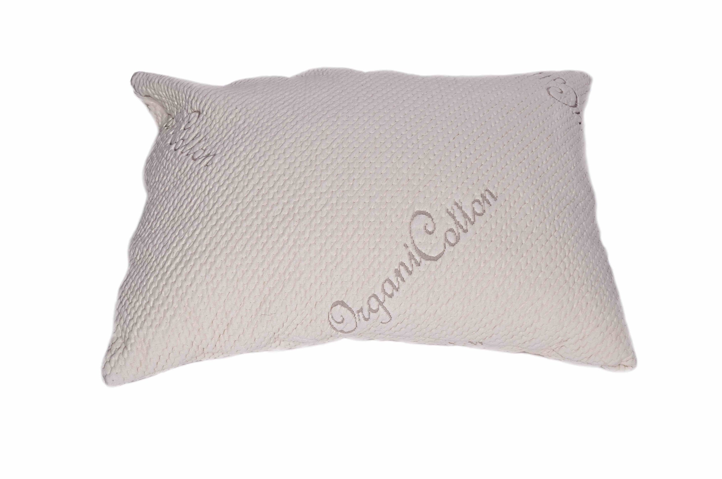 V&R Naturals Adjustable Queen Pillow - Organic Cotton Cover - Mix Blend of Latex Noodles and Kapok Silk (60%/40%)