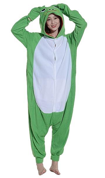 Unisex Animal Pijama Ropa de Dormir Cosplay Kigurumi Onesie Rana Disfraz para Adulto Entre 1, 40 y 1, 87 m: Amazon.es: Ropa y accesorios