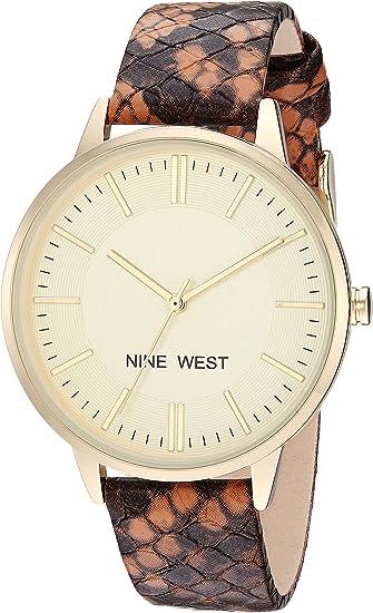 Nine West Women's Snake Patterned Strap Watch