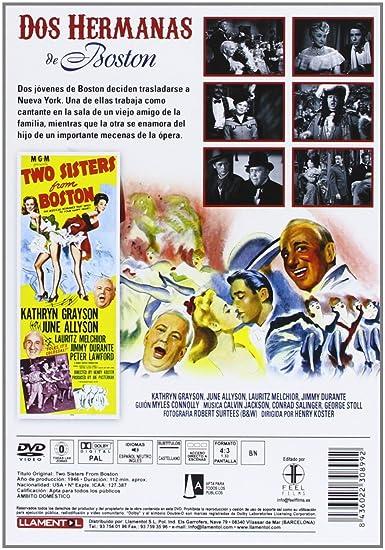 Dos Hermanas De Boston [DVD]: Amazon.es: Kathryn Grayson, June ...