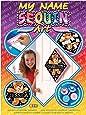 KSG Arts et crafts Sequin Art Teddy Bear Nom Plaque photo Kit